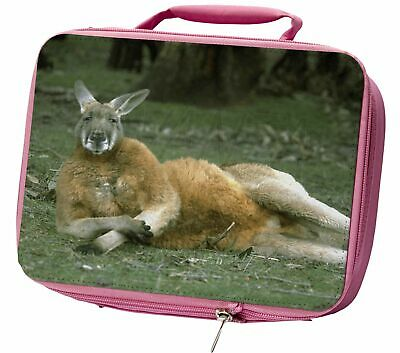 Cheeky Kangaroo Insulated Pink School Lunch Box Bag, AK-1LBP