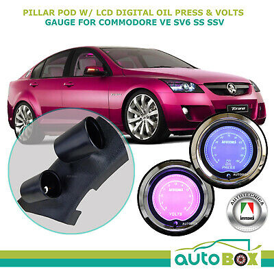 SAAS PIllar Pod suits VE Holden Commodore  + Oil Pressure Volts Gauge SV6 SS SSV