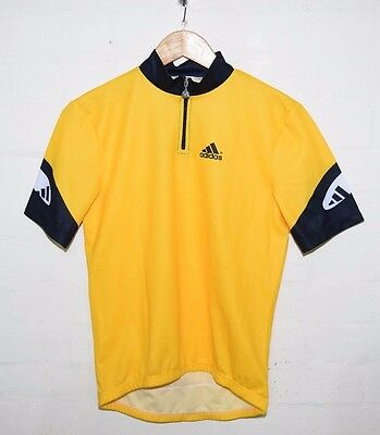 New With Tags Yellow Black Adidas Cycling Top Jersey Retro Medium