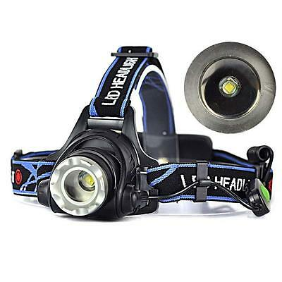 Rechargeable 2000Lm CREE XM-L T6 LED 18650 Zoomable Headlamp Headlight Torch SP