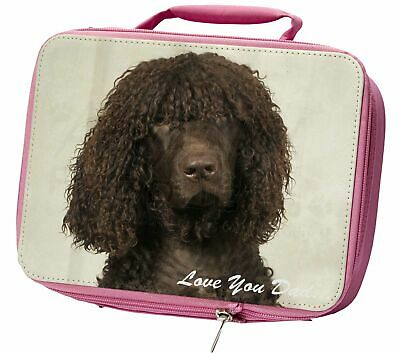 Irish Water Spaniel 'Love You Dad' Insulated Pink School Lunch Box Ba, DAD-59LBP