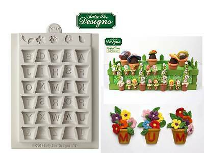 Katy Sue Alpha Pots Silicone Sugarcraft Mould Plant Flower Pot Mould