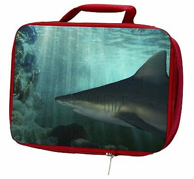 Shark Photo Insulated Red School Lunch Box/Picnic Bag, AF-SHA1LBR