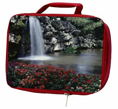 Tranquil Waterfall Insulated Red Lunch Box, W-5LBR