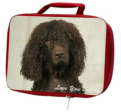 Irish Water Spaniel 'Love You Dad' Insulated Red School Lunch Box/Pic, DAD-59LBR
