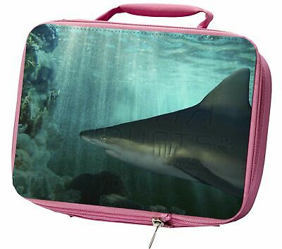 Shark Photo Insulated Pink School Lunch Box Bag, AF-SHA1LBP