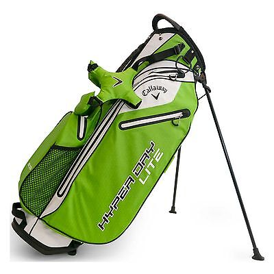 Brand New 2017 Callaway Golf Hyper Dry Lite Stand Bag - Green / White / Black