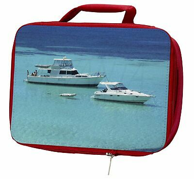 Yachts in Paradise Insulated Red School Lunch Box/Picnic Bag, BOA-5LBR