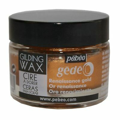 Pebeo Gedeo Gilding Paper Craft Emboss Rub Wax 30ml Tub Pot - Renaissance Gold