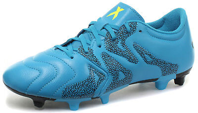 buy popular 78eb7 f8734 adidas X 15.3 FG AG Homme Cuir Chaussures de football, Bleu