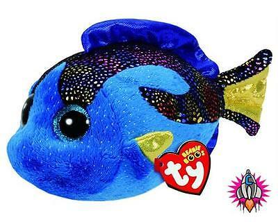 Ty Beanie Babies Boos Aqua Blue Fish Plush Soft Toy New With Tags