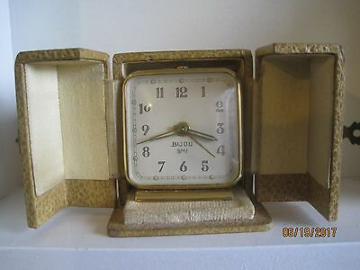 Art Deco French 'Bijou' Travelling Clock with Case/Box.