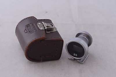 Nikon 35mm Finder with Leather Case for Rangefinder Camera in Mint-  Condition