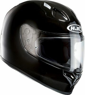 HJC FG-17 Gloss Black Full Face Motorcycle Crash Helmet