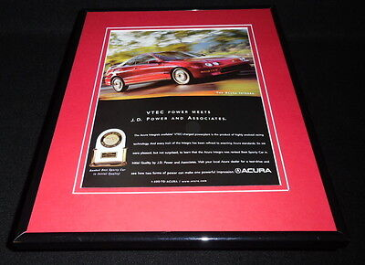 1999 Acura Integra Framed 11x14 ORIGINAL Vintage Advertisement