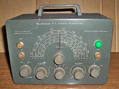 Heathkit RF Signal Generator Model SG-8 with Test Cable
