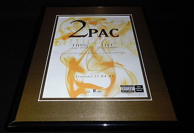 2Pac Shakur Thug Life 2007 Framed 11x14 ORIGINAL Advertisement Tupac