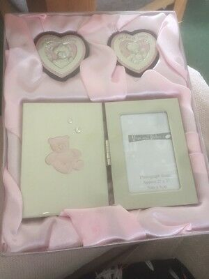 Baby Girl Christening Gift Set First Tooth First Curl And Photo Frame