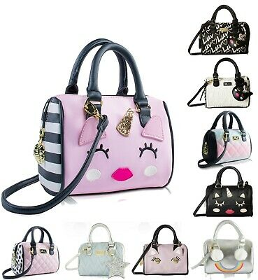 Luv Betsey Johnson Mini Barrel Purse Crossbody Satchel Messenger Shoulder Bag