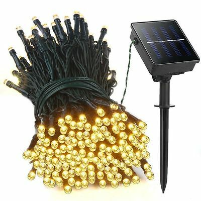 100/200/300/400/500 LED Garden Solar Powered Fairy String Lights Party Event