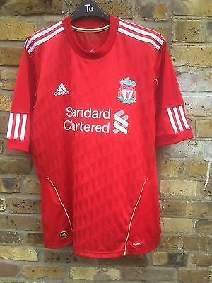 Liverpool Home Football Shirt 2010-2012 Adidas- Size Large Adults