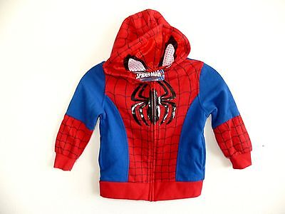 NEW BOYS TODDLER  MARVEL SPIDER-MAN FULL ZIP MASK IN HOODIE JACKET Size 5