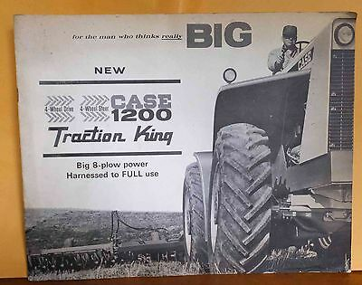 Vintage NEW CASE 1200 Traction King 4-Wheel Drive 4-Wheel Steer Big 8-Plow Power