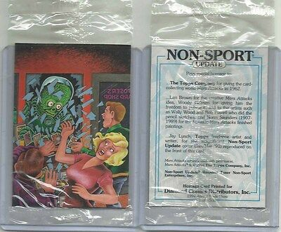 "1994 Mars Attacks SEALED ""Homage Promo Card"" DIAMOND COMICS #1 of 1500 HTF!!!"