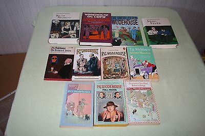 P.G. Wodehouse Lot of 11 books 3 hardcovers and 8 paperback