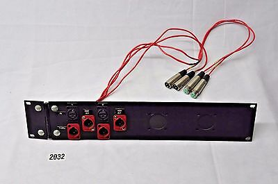 Amp Rack / Processing Signal Panel with (4) male (2) female XLR + Tails  #2032