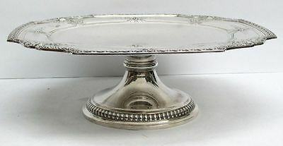 Exceptional 1918 Tiffany & Co Sterling Silver Footed Cake Plate Stand