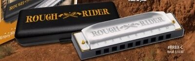 "Hohner ""ROUGH RIDER"" Harmonica Key of C Harp in Plastic Storage Case"