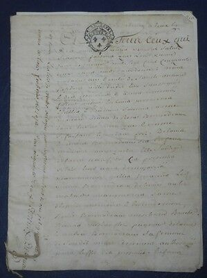 1752 Antique Notary Manuscript 8 Pgs Handwritten Vellum Legal Document Parchment