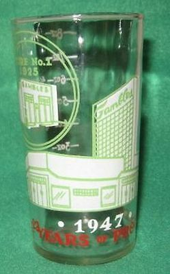 1947 Gamble's Department Store Drinking Glass Tumbler w/ 8 ounce measure