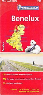 Benelux NATIONAL Map (Michelin National Maps) by Michelin   Hardcover Book   978