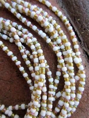 African Glass Beads -6 Strands [66624]