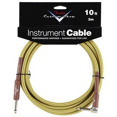 Fender® 10' Custom Shop Tweed Instrument Cable Straight/Angled #0990820029