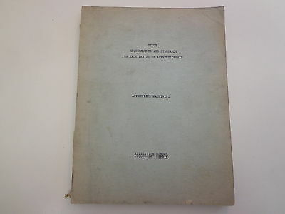 Apprentice Machinist Study Requirements Book 1942 Frankford Arsenal WWII