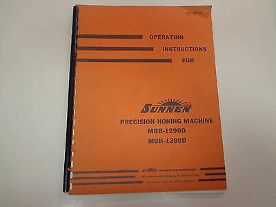 Operating Instructions for Sunnen Precision Honing Machine 1957 Machinist
