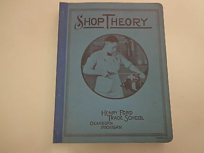 Shop Theory 1941 WWII Henry Ford Trade School Tools Machinists Automobile