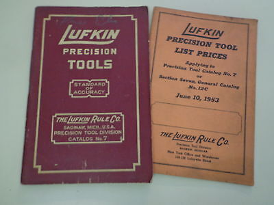Lufkin Precision Tools Catalog #7 1953 Gages Machinist Micrometer Measuring