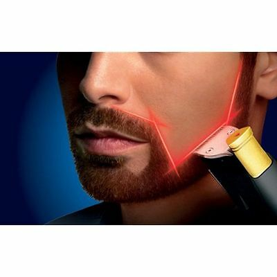 Philips Norelco Beard Styles Trimmer Shaver Cordless Laser Guided Mustache Razor