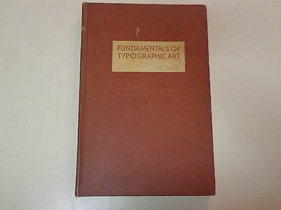 Fundamentals of Typographic Art 1930 Edward D Berry Page Layout