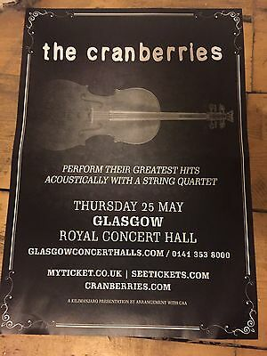 The Cranberries - Rare Gig poster, Glasgow, May 2017