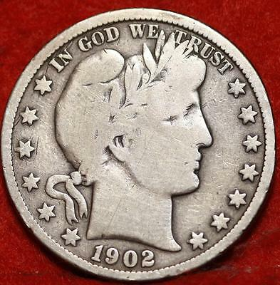 1902-O New Orleans Mint Silver Barber Half Dollar Free Shipping!