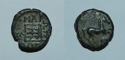 ANCIENT GREEK : THRACE, MARONEIA  398-347 B.C.  AE15 -  Excellent Patina