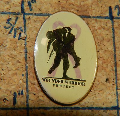 """Wounded Warrior Project War Veterans Vintage Oval 1"""" Metal Lapel Pin"""