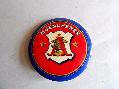 Vintage Anheuser Busch Brewery Muenchener Beer Advertising Pinback Button