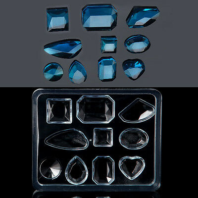 Geometric Jewelry Mold Pendant Earring Silicone Resin Craft Handmade Making Tool