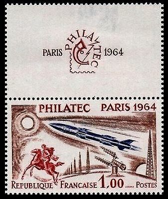 PHILATEC Paris 1964, avec Vignette, Neuf ** = Cote 30 € / Lot Timbre France 1422